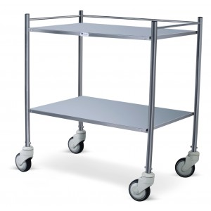 "Instrument Trolley - Stainless Steel (60"" X 24"" X 33"")"