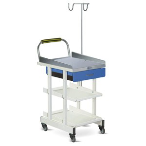 ECG Machine Trolley with Drawer- MS Framework