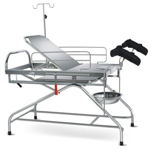 Obstetric Labour Table - Telescopic (SS Framework) with suitable Mattress