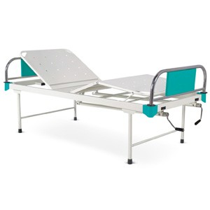 Manually Operated Four Section Fowler Bed With SS Head and Foot boards with Colored Metal Panels