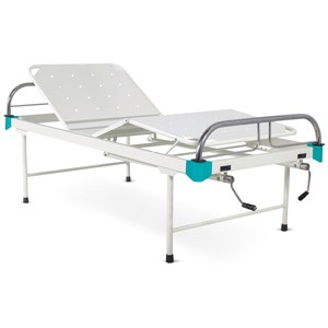 Manually Operated Four Section Fowler Bed With SS Head and Foot boards with SS Tubes