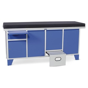 Examination Couch - Plain Top with a Drawer and Four Cabinets