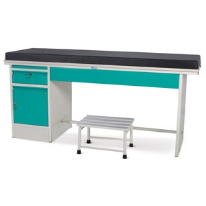 Examination Couch - Plain Top with a Drawer and a Cabinet