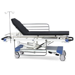 Emergency & Recovery Trolley (Height on Hydraulic Pump)  with suitable Mattress