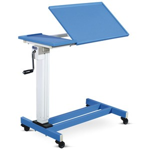 Overbed Table - Two section Membrane Top (Height on Geared handle)