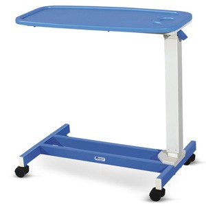 Overbed Table - Plain Membrane Top (Height on Gas spring)