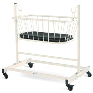 Crib with Trolley with Mattress