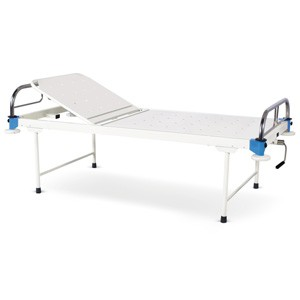 Manually operated Two Section Semi Fowler Bed With SS Head and Foot boards with SS Tubes